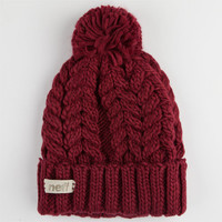 Neff Kaycee Beanie Maroon One Size For Women 24778932301