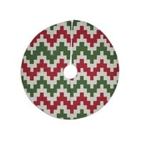 "KESS Original ""Christmas Gram"" Chevron Tree Skirt"