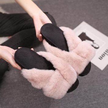 Shoes Korean Rabbit Flat Autumn Strong Character Slippers [79792504857]