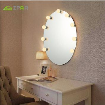 5/10/12 PCS  Makeup Mirror Dressing light Vanity Three Colors  LED Light Bulbs Kit for Dressing Table with Dimmer in ,NO Mirror