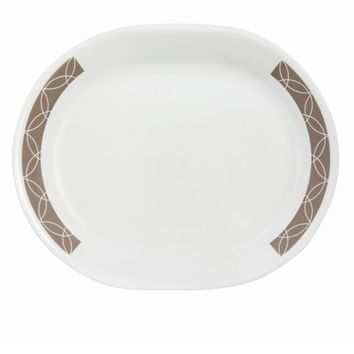 Corelle Sand Sketch Serving Platter