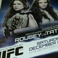 168 Limited Edition Ronda Rousey vs Miesha Tate Event Poster UFC/Strikeforce