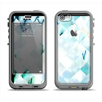 The Bright Highlighted Tile Pattern Apple iPhone 5c LifeProof Nuud Case Skin Set