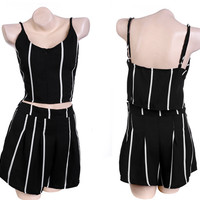 Backless Spaghetti Strap Chiffon Top + Short
