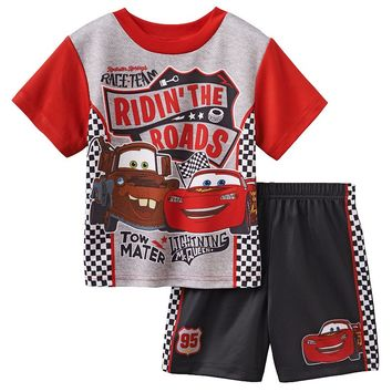 Disney / Pixar Cars ''Ridin' The Road'' Mater & Lightning McQueen Pajama Set - Toddler Boy, Size: