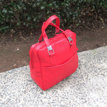 Vintage Overnight Bag, Carry On Luggage