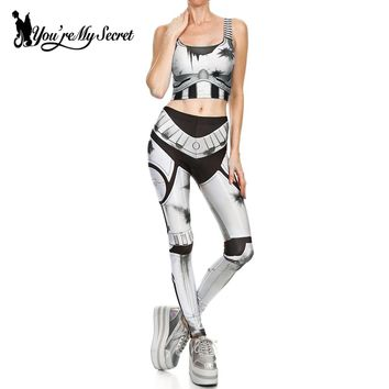 Comic Cosplay Slim Winter Star Wars Legging  Set
