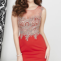 Short Illusion Sweetheart Dress with a Sheer Back by Hannah S