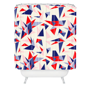 Holli Zollinger Bright Origami Shower Curtain