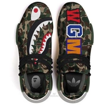 ADIDAS Bape Shark Camouflage Trending Fashion Camouflage Casual Sports Shoes G-AA-SDDSL-KHZHXMKH