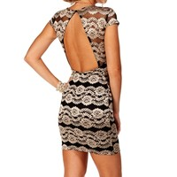 Pre-Order Black Lace Cap Sleeves Dress