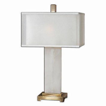 Uttermost 26136-1 Athanas Alabaster Table Lamp