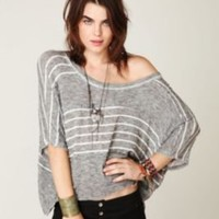Free People We The Free Boxy Striped Sweater Tee at Free People Clothing Boutique
