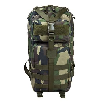 Small Backpack With Zippered Compartment of 669 Cu. In. Of Space - Woodland Camo