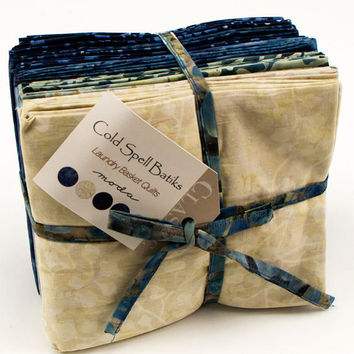 Cold Spell Batiks FQ Bundle by Laundry Basket Quilts for Moda Fabrics