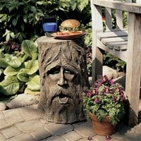 SheilaShrubs.com: The Odin Tree Stump Sculptural Table DB888 by Design Toscano: Garden Sculptures & Statues