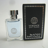 Versace Pour Homme for Men by Versace EDT Splash Miniature 0.17 oz (New in Box)