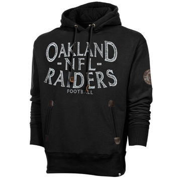 47 Brand Oakland Raiders Break Trail Hooded Sweatshirt - Black