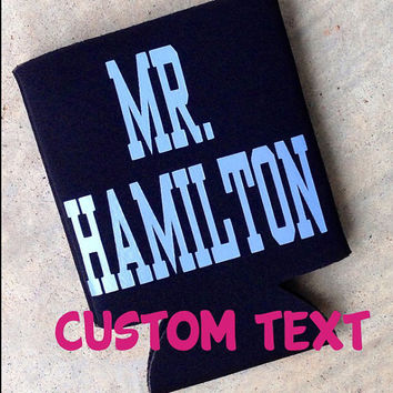 Monogrammed Koozie Personalized Koozies Personalized Coozie Wedding Coozie Can Coozie Preppy Monogram Koozie Coozie Monogrammed Gifts