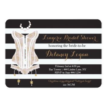 Lingerie Bridal Shower Invitation 5