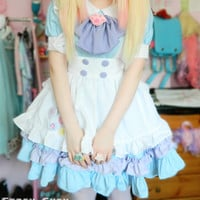 Custom Lolita Princess Maid Dress With Paw Brooch and Black KC Free Ship SP140839 sold by SpreePicky