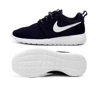 NIKE Roshe Running sports shoes black white hook H-A-GHSY-1