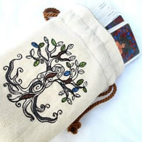 Tree Goddess Bag -Dice Bag, Tarot Bag, Accessory Bag, Gaming Bag, Pagan, Goddess, Tree, Nature, Wiccan, Wicca