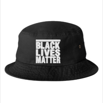 black lives matter embroidery hat  - Bucket Hat
