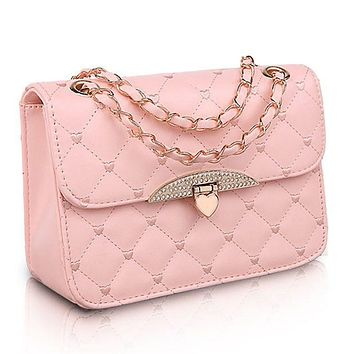 Leather Heart Chain Bag