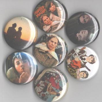 Harold and Maude 1-inch pinback buttons