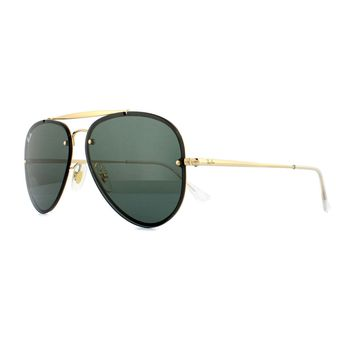 Ray-Ban Sunglasses Blaze Aviator 3584N 905071 Gold Dark Green 58mm