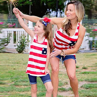 Mommy and Me 4th of July Matching Tank Tops