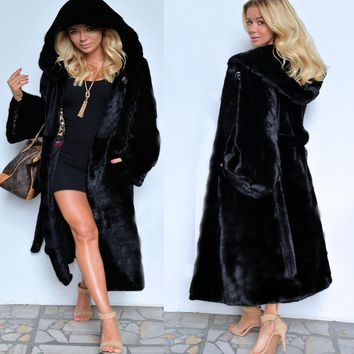 Women's clothes with a skirt and fur coat