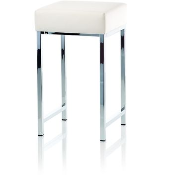 DW 64 Bench for Bath Backless Vanity for Closet, or Bedroom W/ Chrome Metal Legs