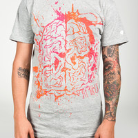 Fit Splatter Brain T Athletic Grey Small