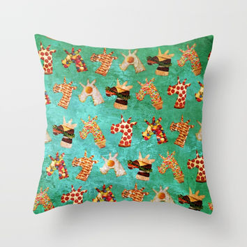 Unicorn Food Throw Pillow by That's So Unicorny