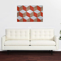 Hand Painted, Wood Geometric Modern Art Painting, Wall Art, Original Artwork, Fine Art, Geometric Art