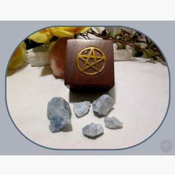 """Grounding & Protecting"" Blue Calcite Travel Set"