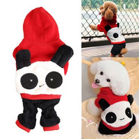 Pet Dog Puppy Clothes Cute Panda Hoodie with Cap Jumpsuit