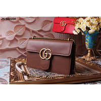 GUCCI WOMEN'S GG MARMONT LEATHER INCLINED CHAIN SHOULDER BAG