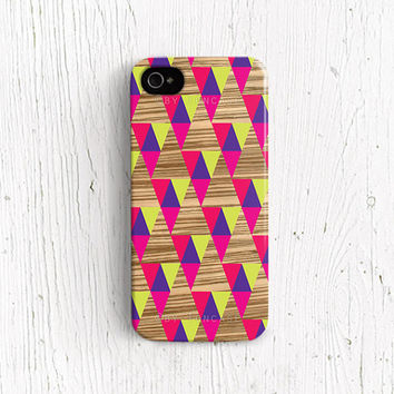 Geometric iPhone 4 case abstract iPhone 4 case triangle iphone 5 case wood iphone 5 case wood iphone 5 case WOOD PRINT /c190