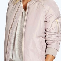 Boutique Rebecca MA1 Bomber with Quilted Back