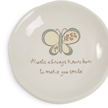 Aunts always know how to make you smile Keepsake Dish