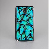 The Turquoise Butterfly Bundle Skin-Sert Case for the Samsung Galaxy Note 3