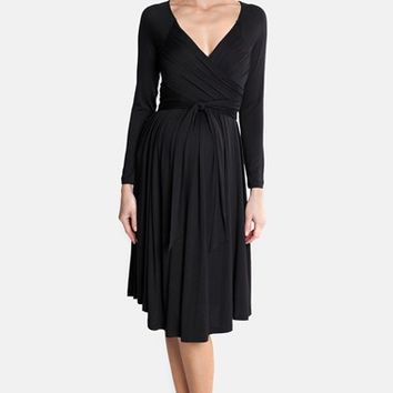 Women's Olian Jersey Maternity Wrap Dress,