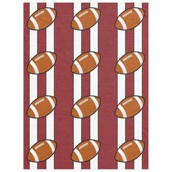 Football Sporty Stripes Fleece Blanket