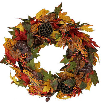 "Thanksgiving Wreath - 24 ""  - Hanger Included"