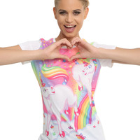 Lisa Frank Unicorn Sublimation Girls T-Shirt
