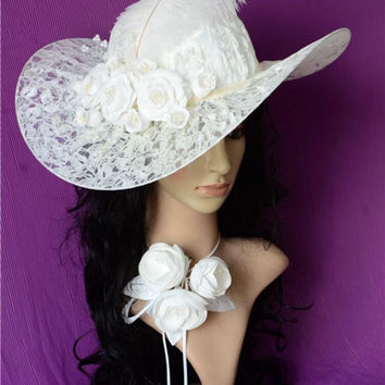 Vintage Linen Lace Bridal Hats 2016 Pearls Lace Flowers Crystal Wedding Hats Veil For Bride Wedding Accessories