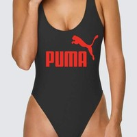 PUMA Swimming Women's Sexy Vest Type Bikini Swimsuit